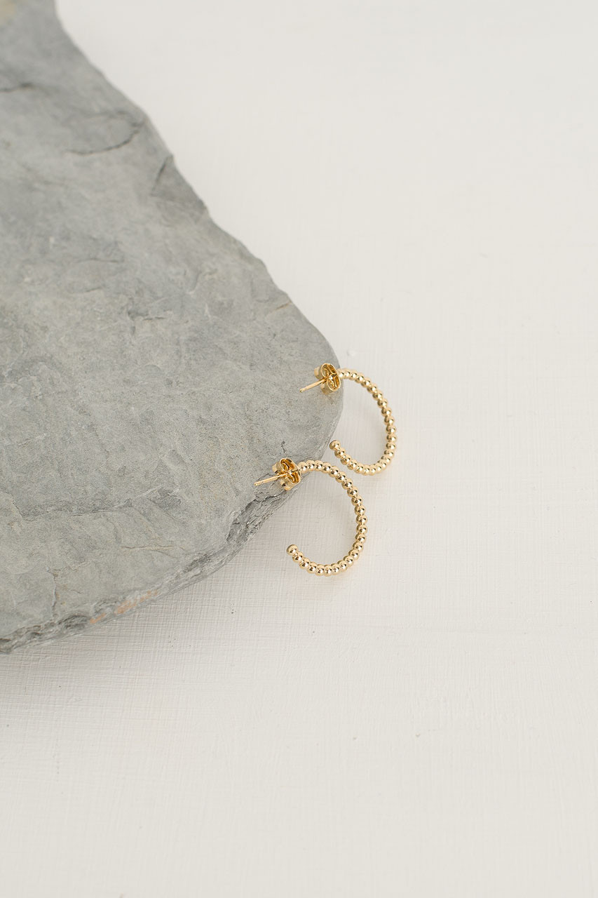 Lucia Hoop Earring, Gold Plated