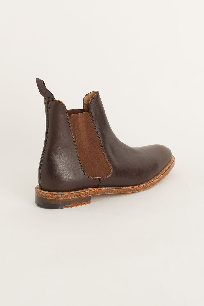 Victoria Chelsea Boot, Ebony Burnish
