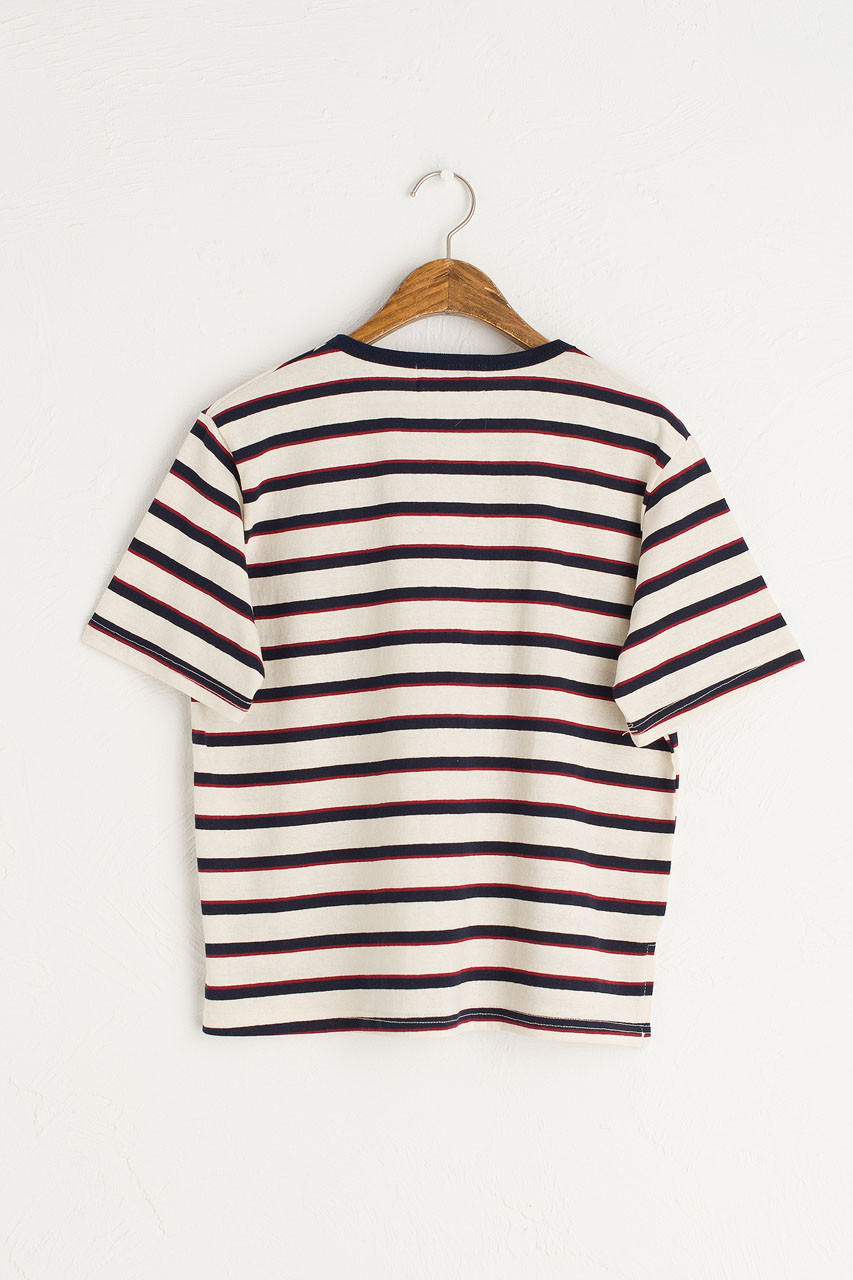 Co Stripe Tee, Ivory/Navy