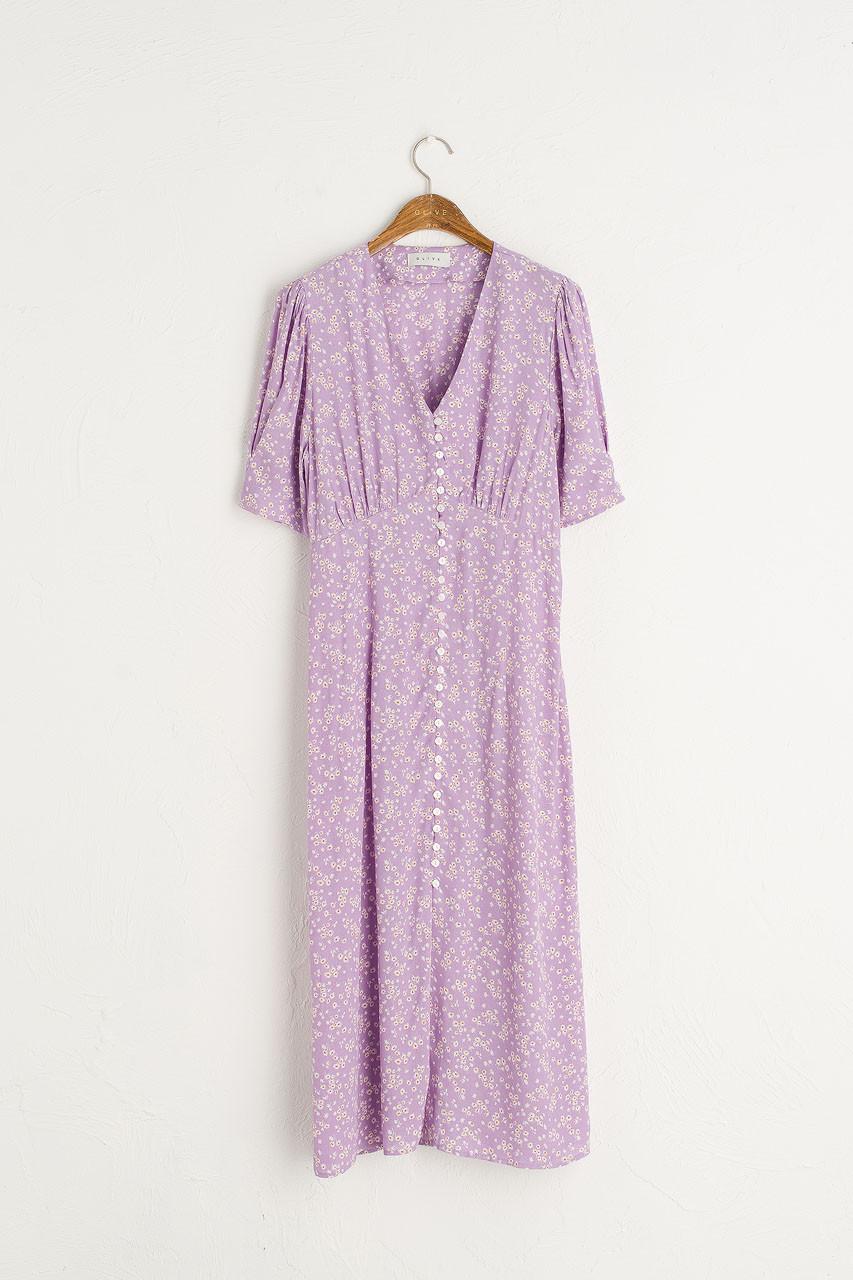 Verity Floral Dress, Violet