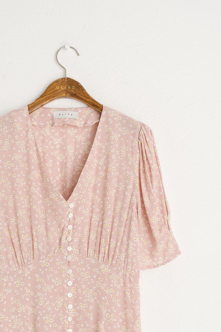 Verity Floral Dress, Pink