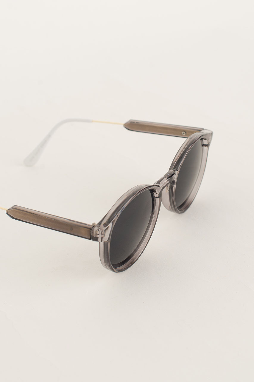 Miami Sunglasses, Dark Grey Transparent