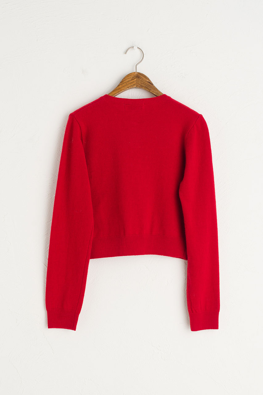 Jane Cashmere Blend Mini Cardigan, Red