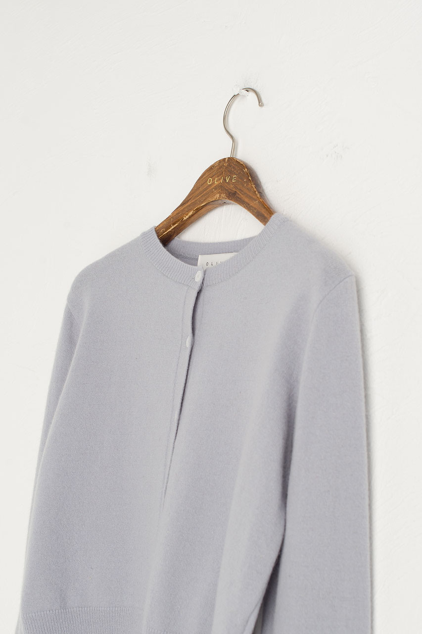 Jane Cashmere Blend Mini Cardigan, Blue