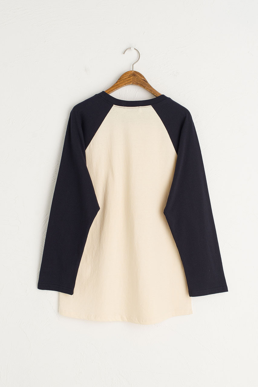Colour Raglan Long Sleeve Tee, Navy