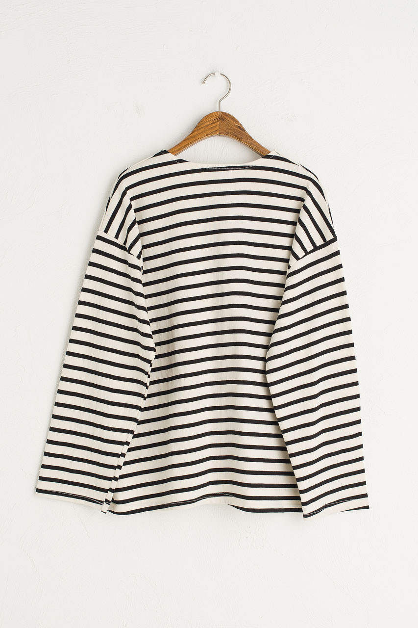Sophie Stripe Tee, Black
