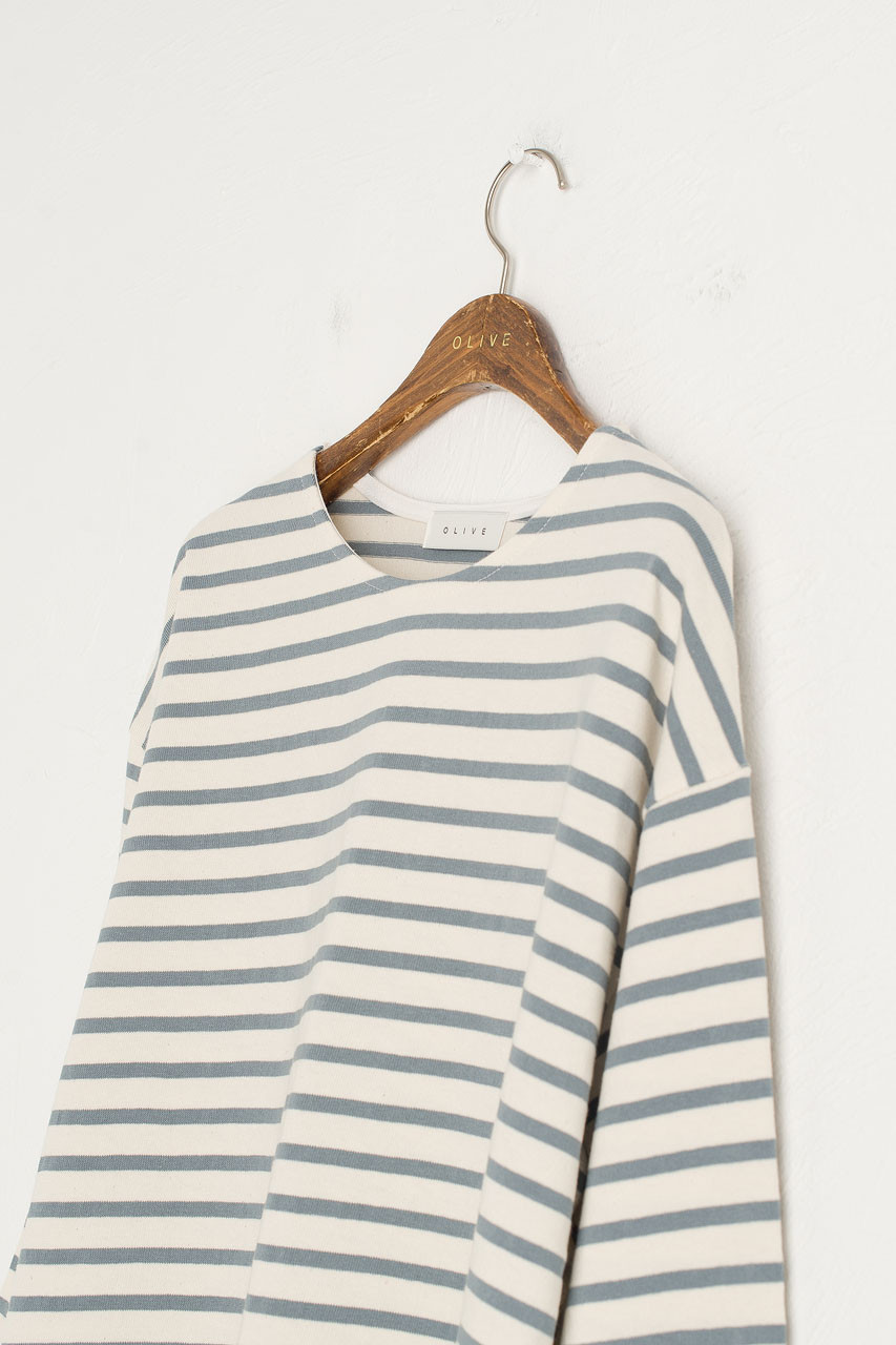 Sophie Stripe Tee, Blue