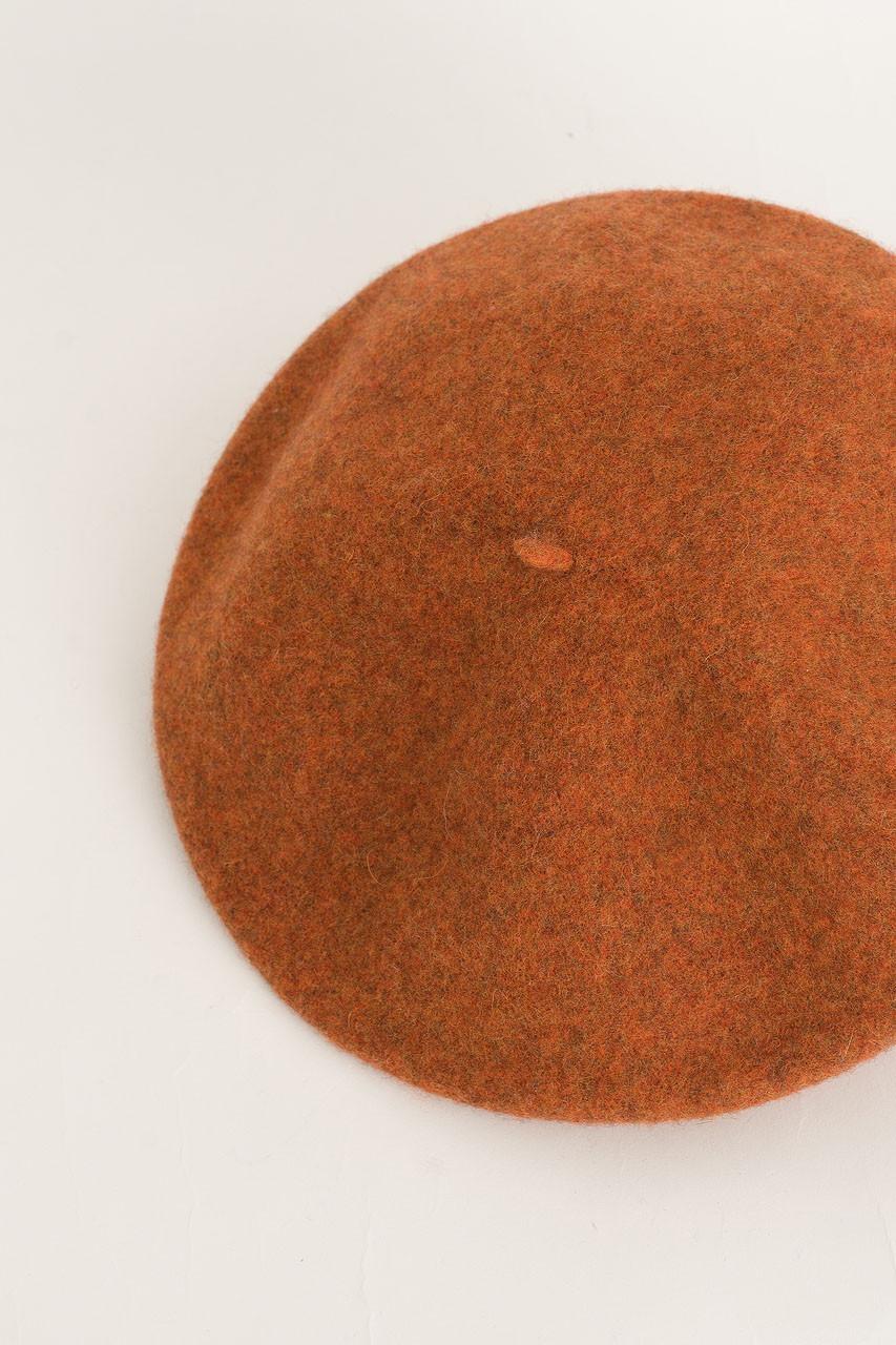 19 Wool Beret, Pumpkin Melange