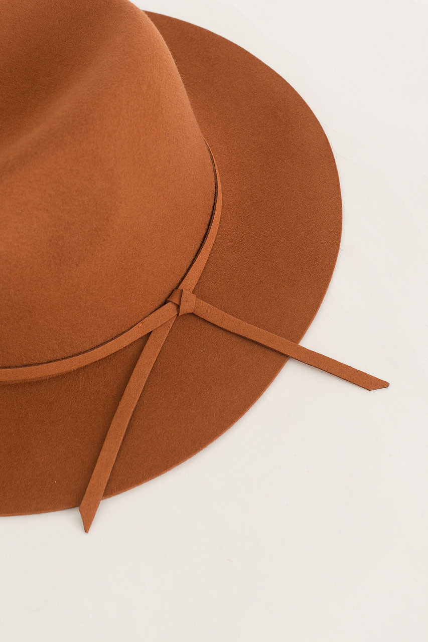 Felt Fedora, Burnt Orange