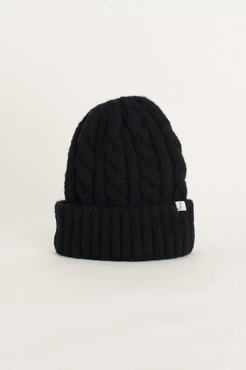 Cable Beanie, Black