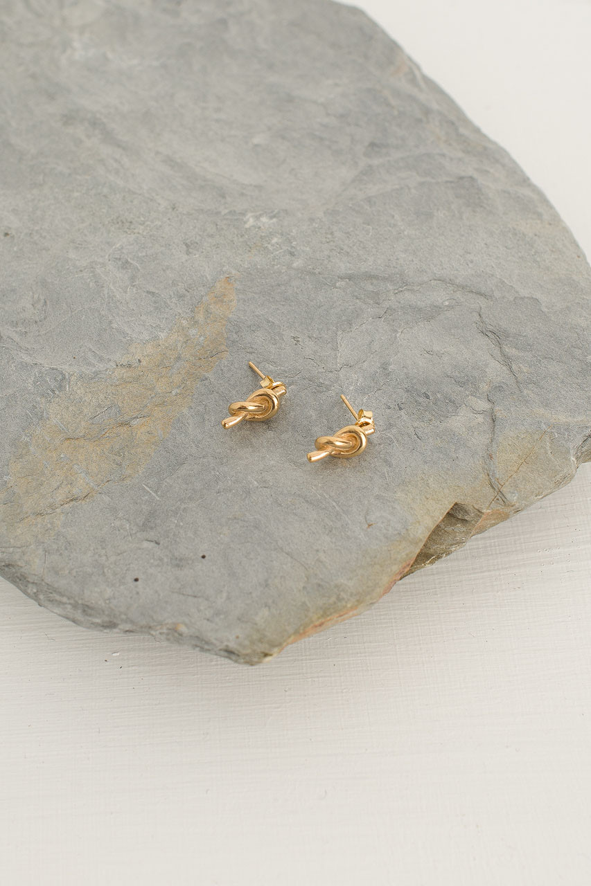Knot Stud, Gold