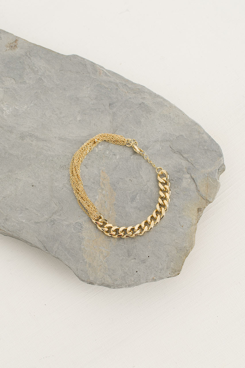 Chain Bracelet, Gold Plated
