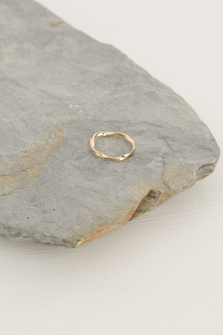 Wave Ring, Gold Plated