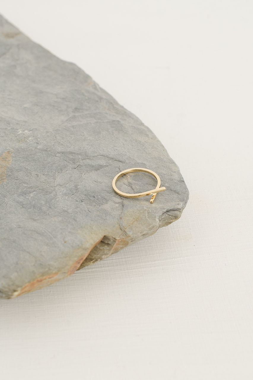 Line Ring, Gold Plated