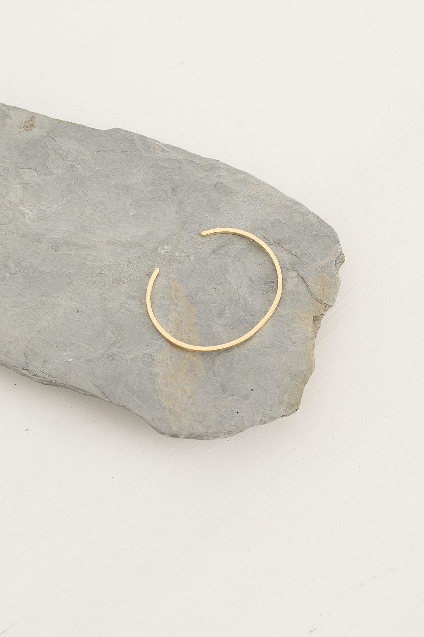Line Bracelet, Gold Plated