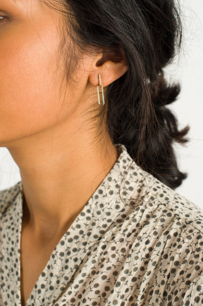 Grace Drop Earrings, Gold Plated