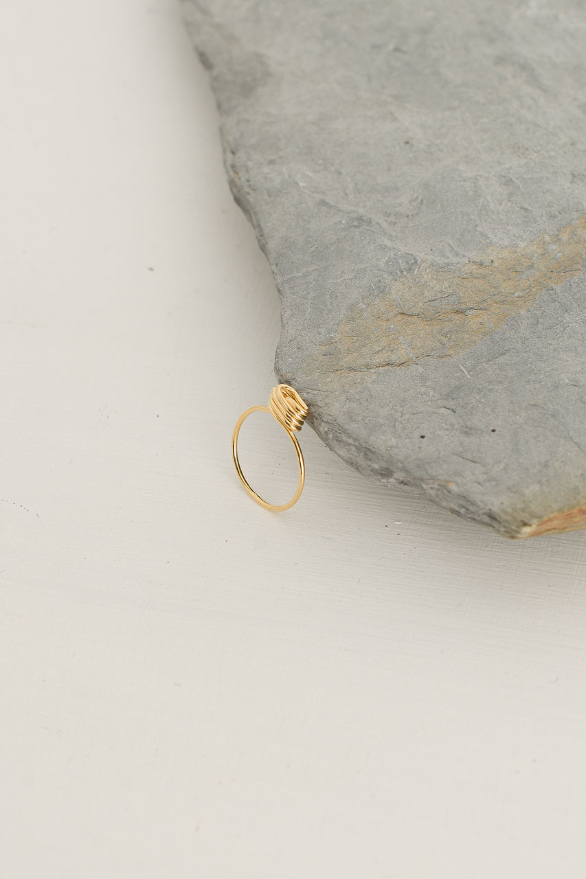 Cocoon Ring, Gold Plated