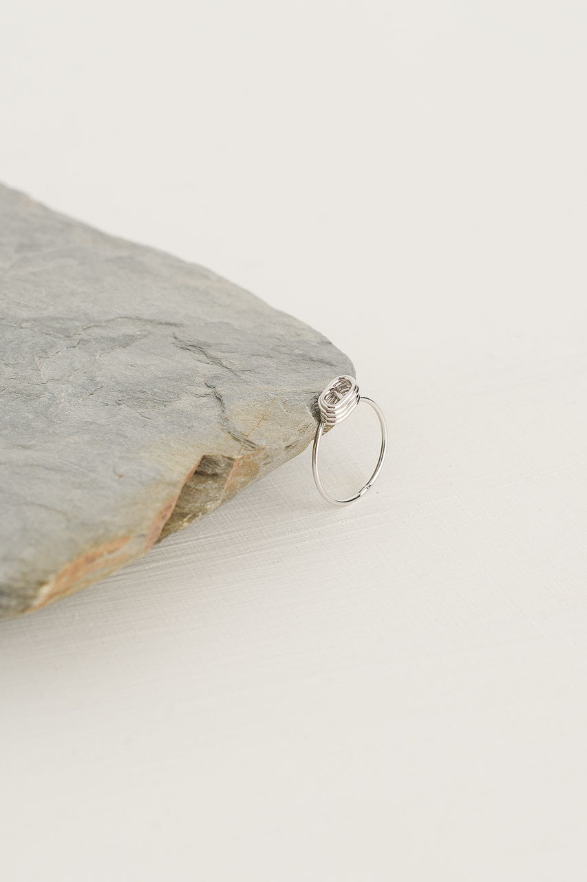 Cocoon Ring, Silver Plated