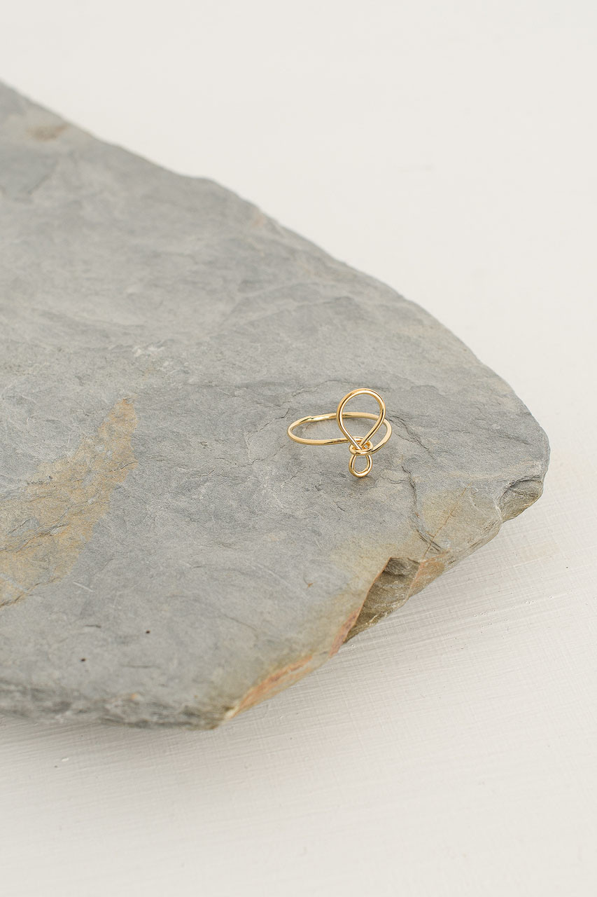 Ribbon Ring, Gold Plated