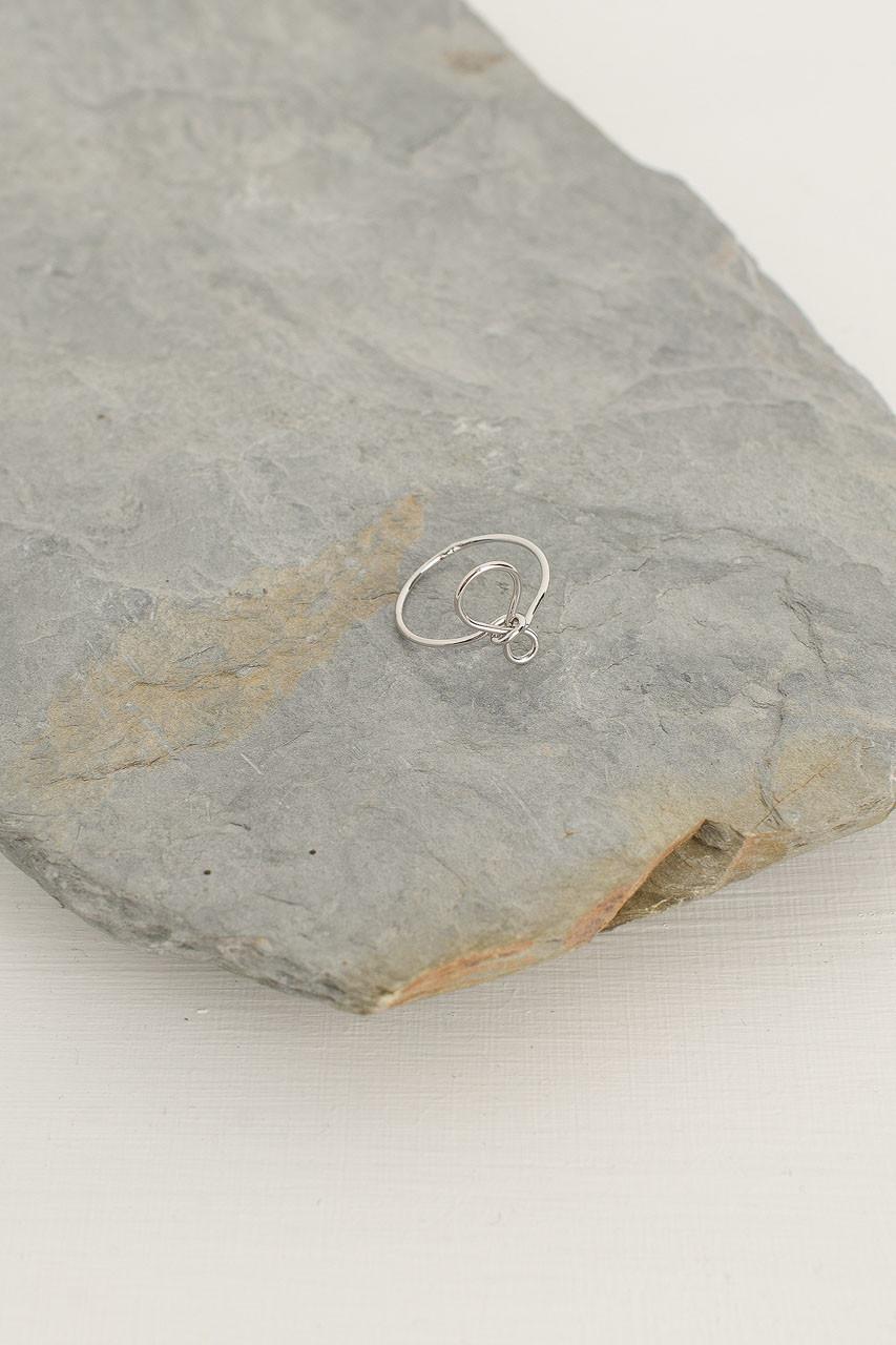 Ribbon Ring, Silver Plated