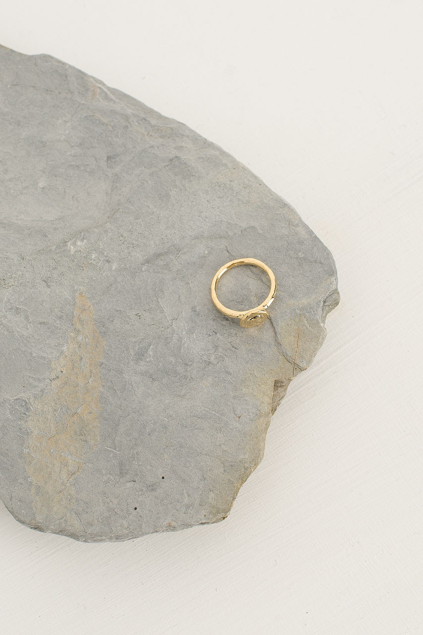 Mini Seal Ring, Gold Plated