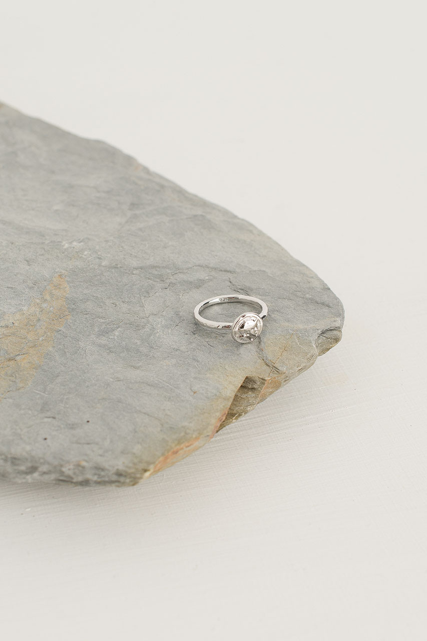 Mini Seal Ring, Silver Plated