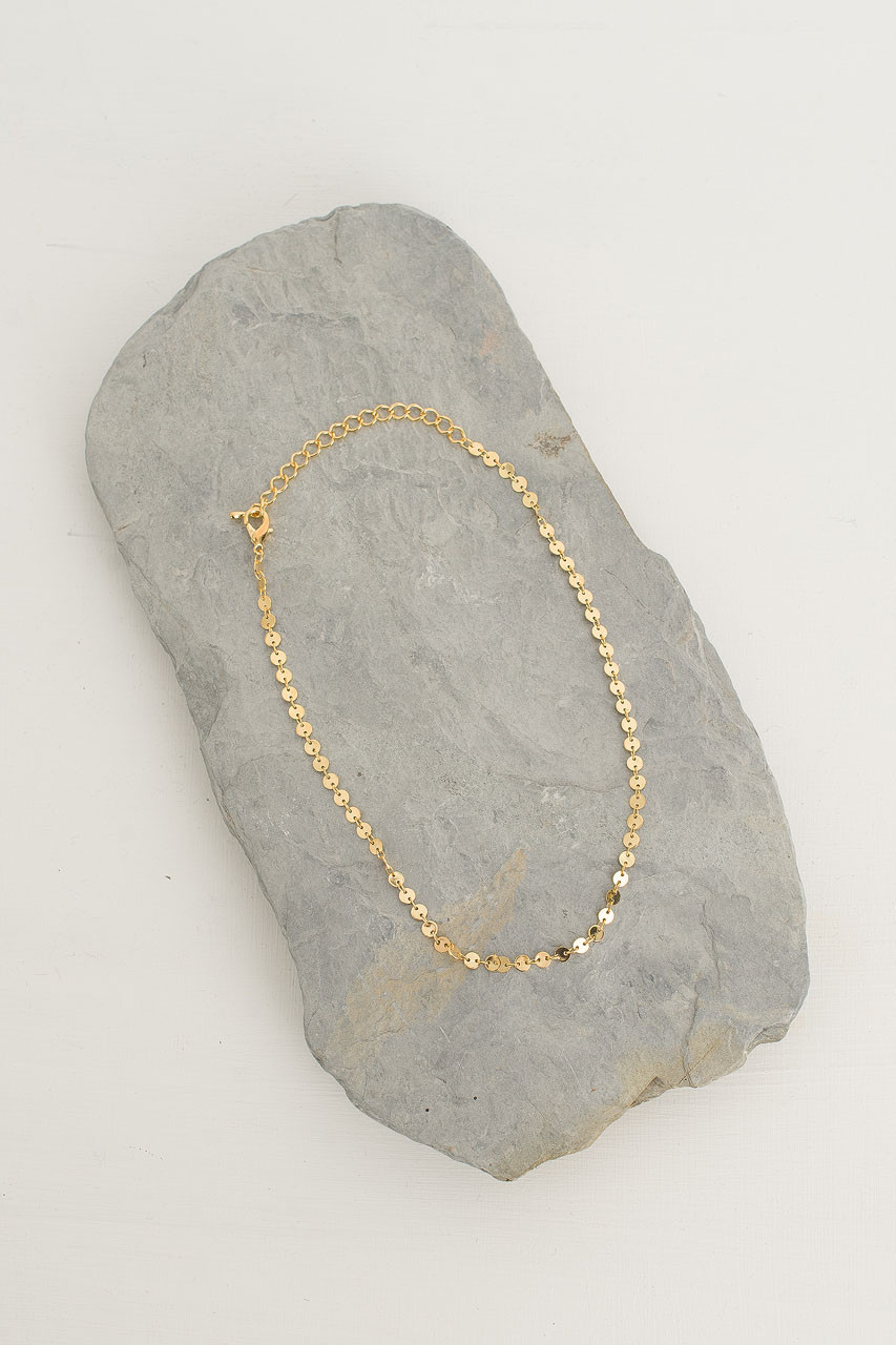 Mini Circle Sunshine Necklace, Gold Plated