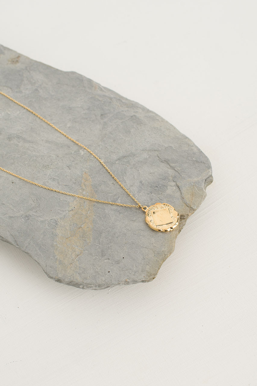 Charlotte Necklace, Gold Plated