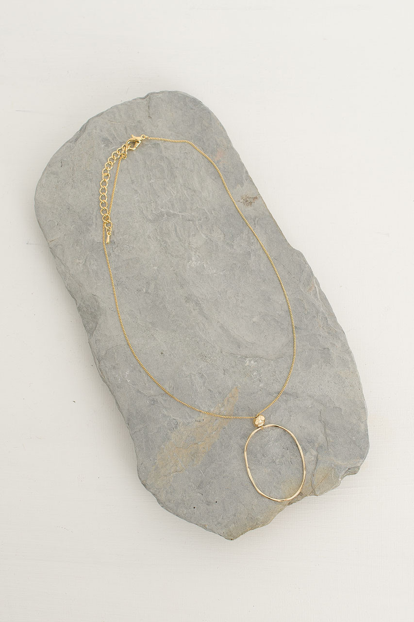 Nina Necklace, Gold Plated