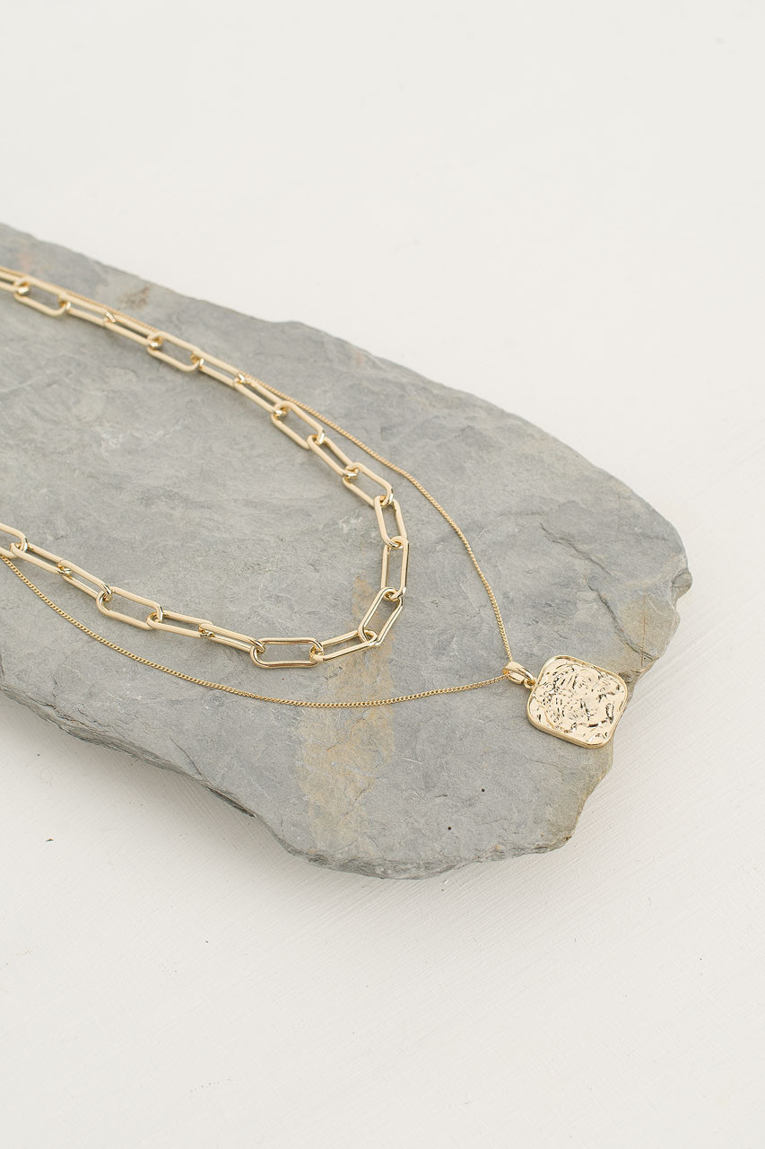 Merry Chain Necklace Set, Gold Plated