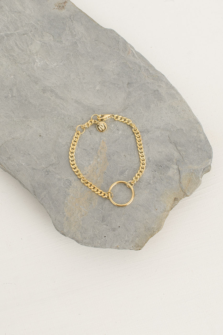 Simple Chain Bracelet, 18K Gold Plated