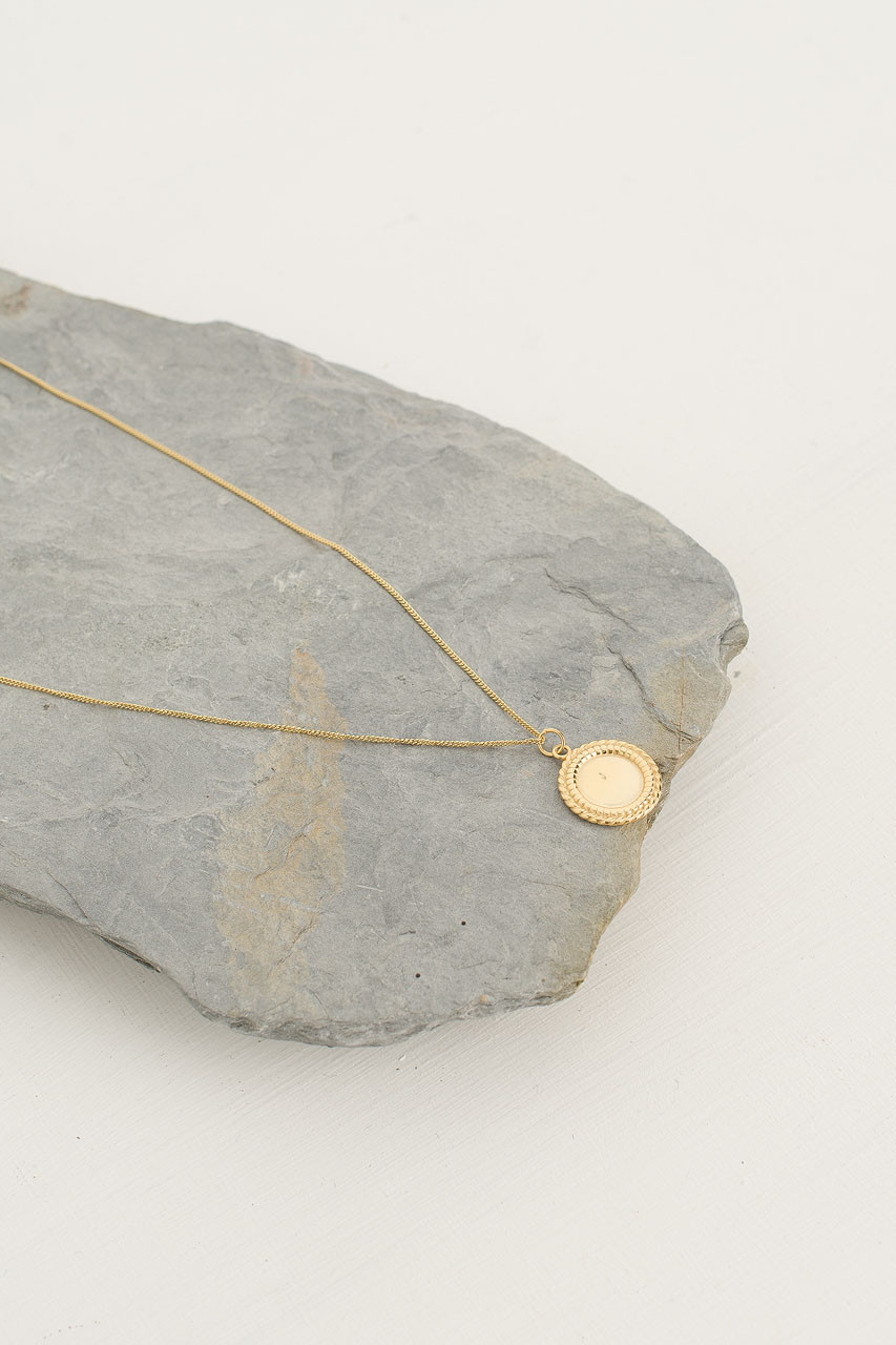 Mirror Necklace, 18K Gold Plated