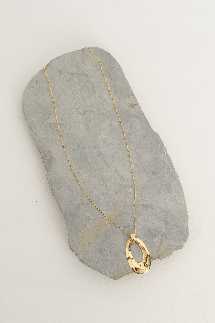 Karen Drop Necklace, 18K Gold Plated