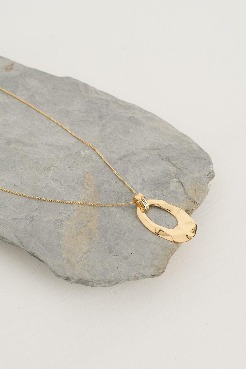 Karen Drop Necklace, 18K Gold Plated