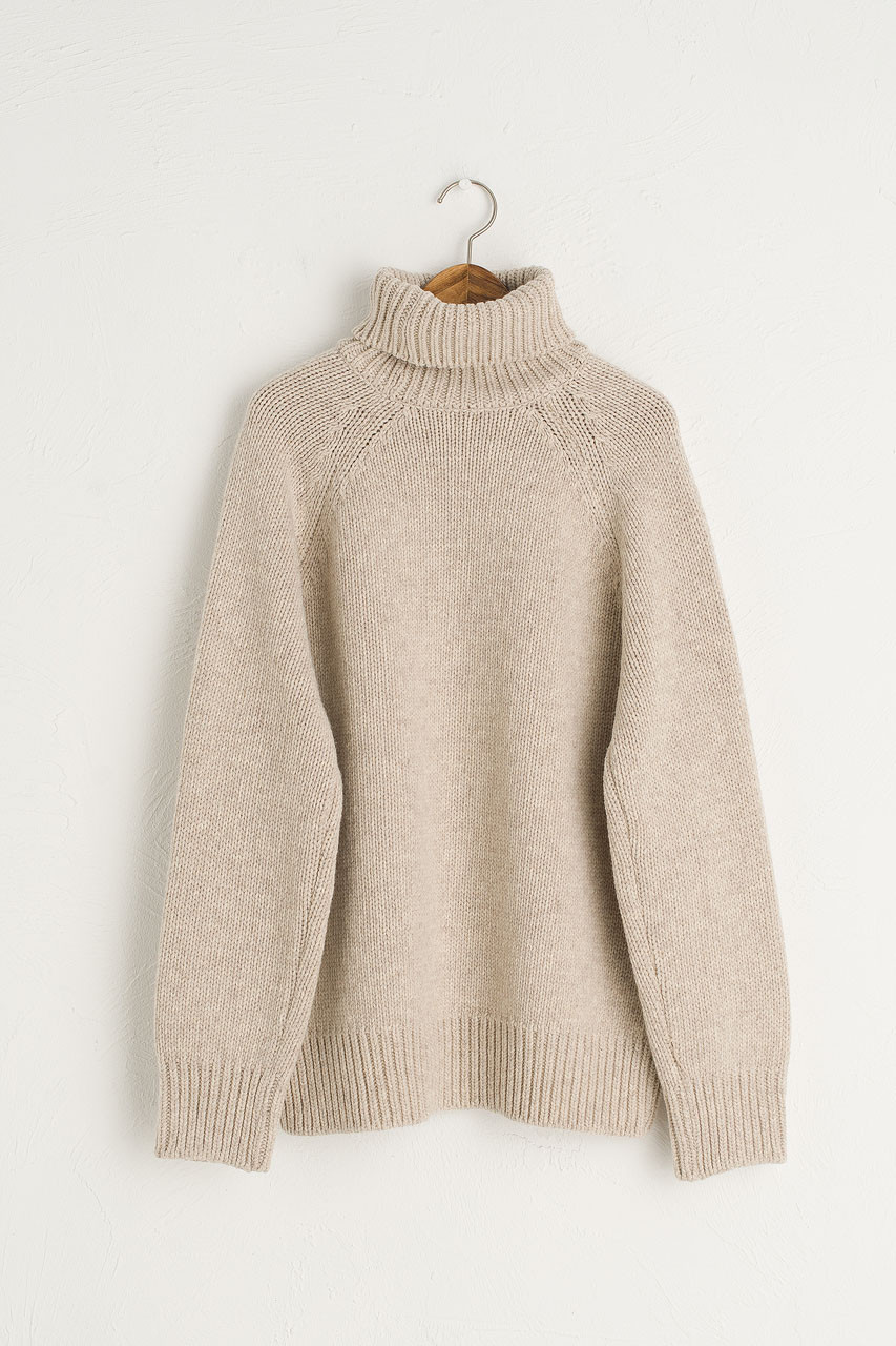Miso Chunky Turtle Neck Jumper, Beige