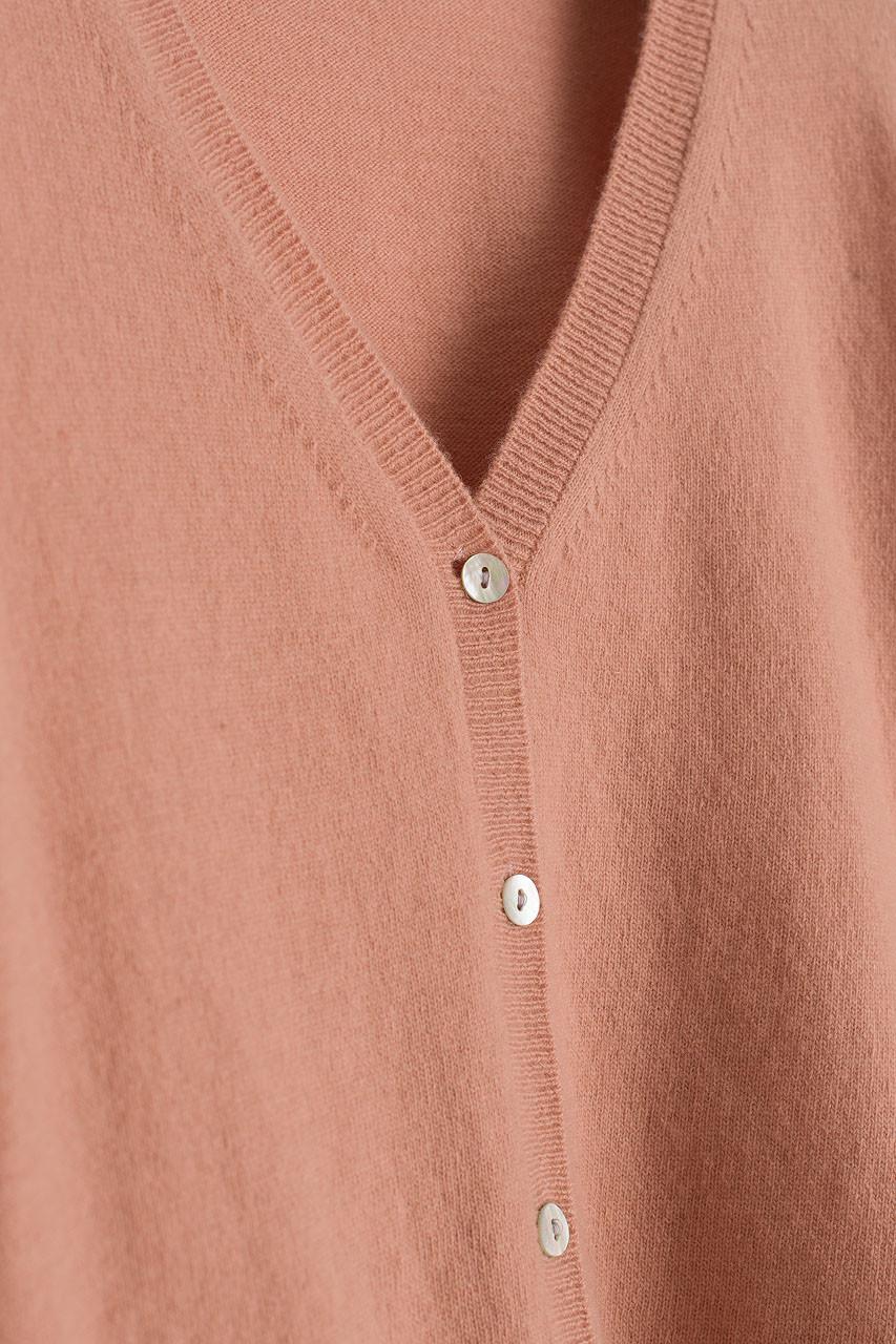 Hoya Soft V Neck Cardigan, Pink