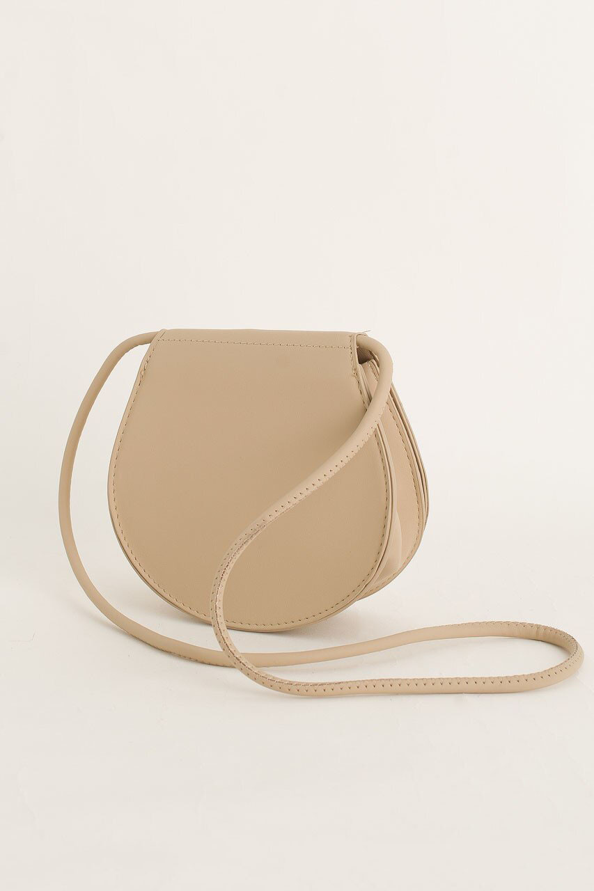 Momo Mini Round Bag, Beige