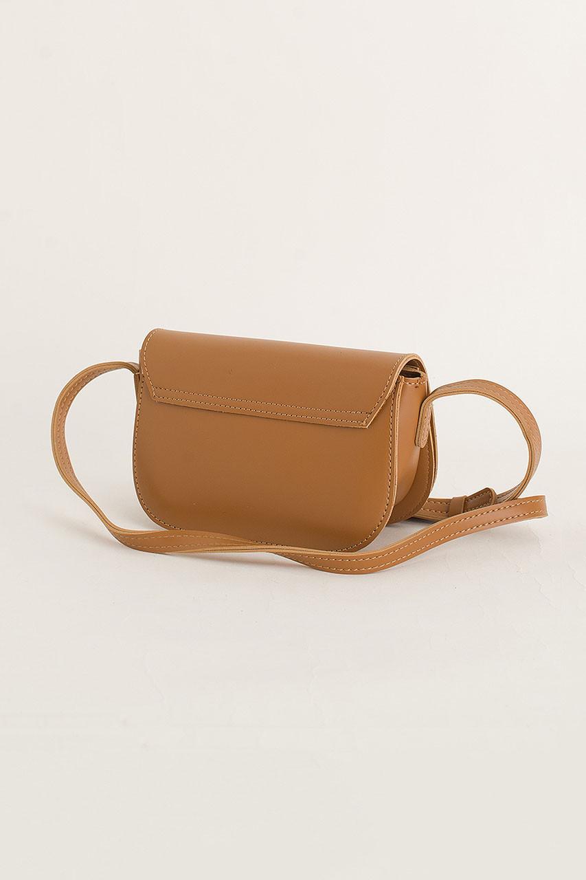 Square Stitch Mini Bag, Camel