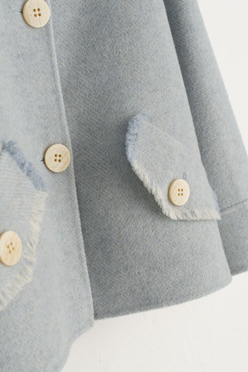 Raw Edge Mini Jacket, Blue