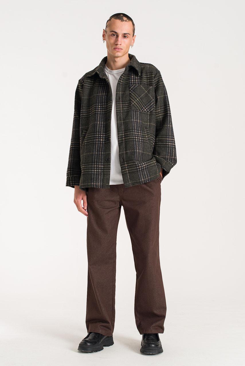 Menswear | Vern Check Overshirt, Grey