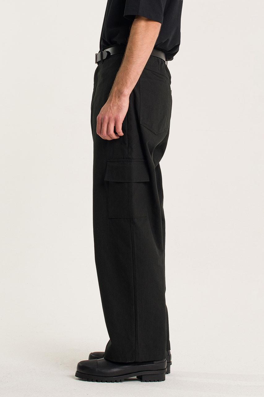 Menswear | Cotton Cargo Pants, Black