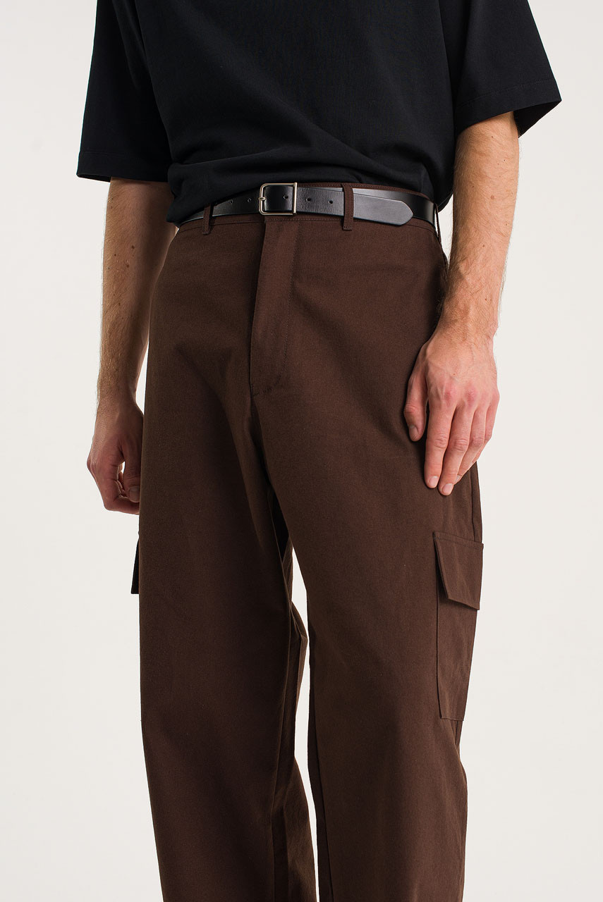 Menswear | Cotton Cargo Pants, Brown