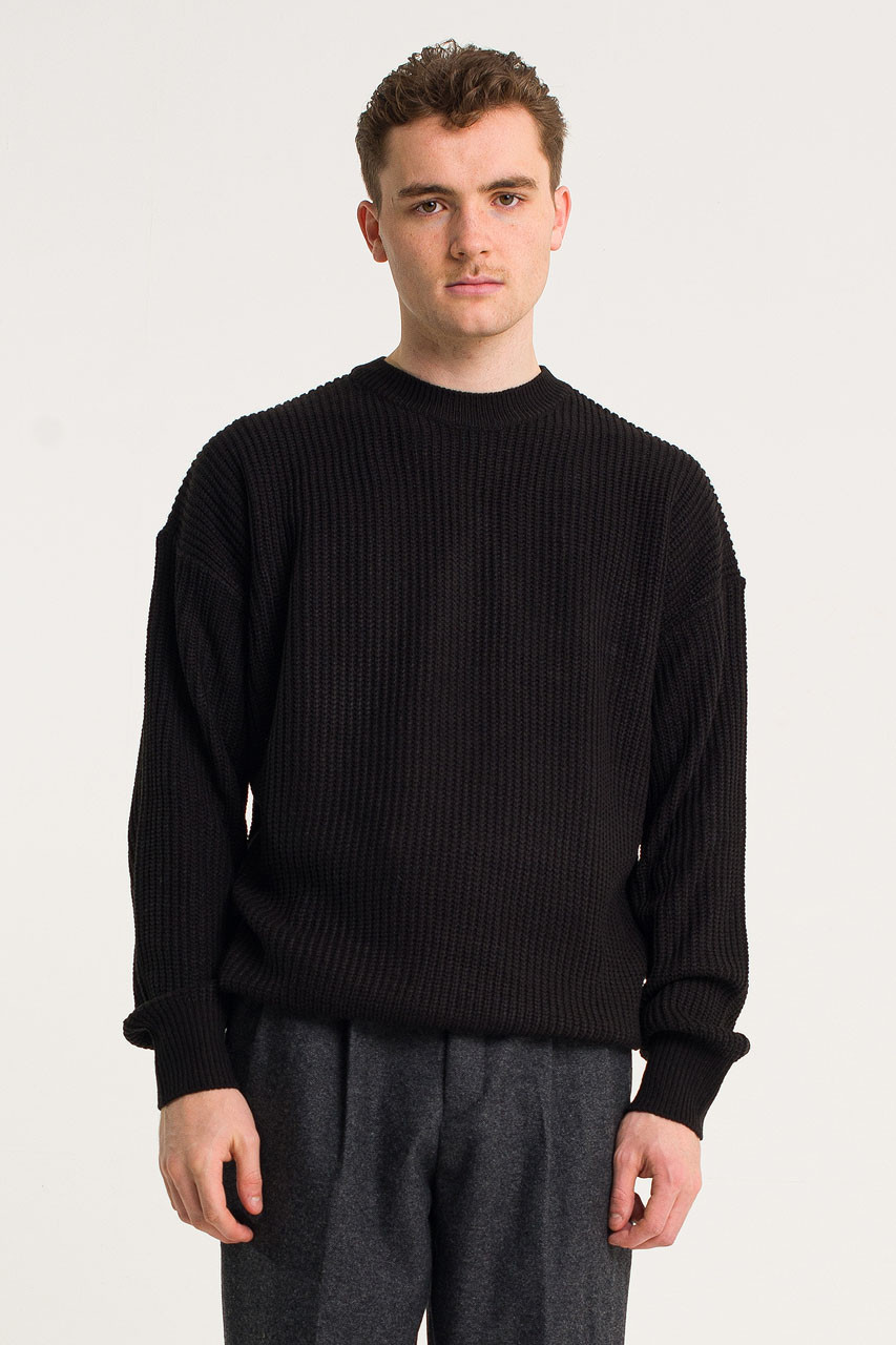Menswear | Fisherman Jumper, Black