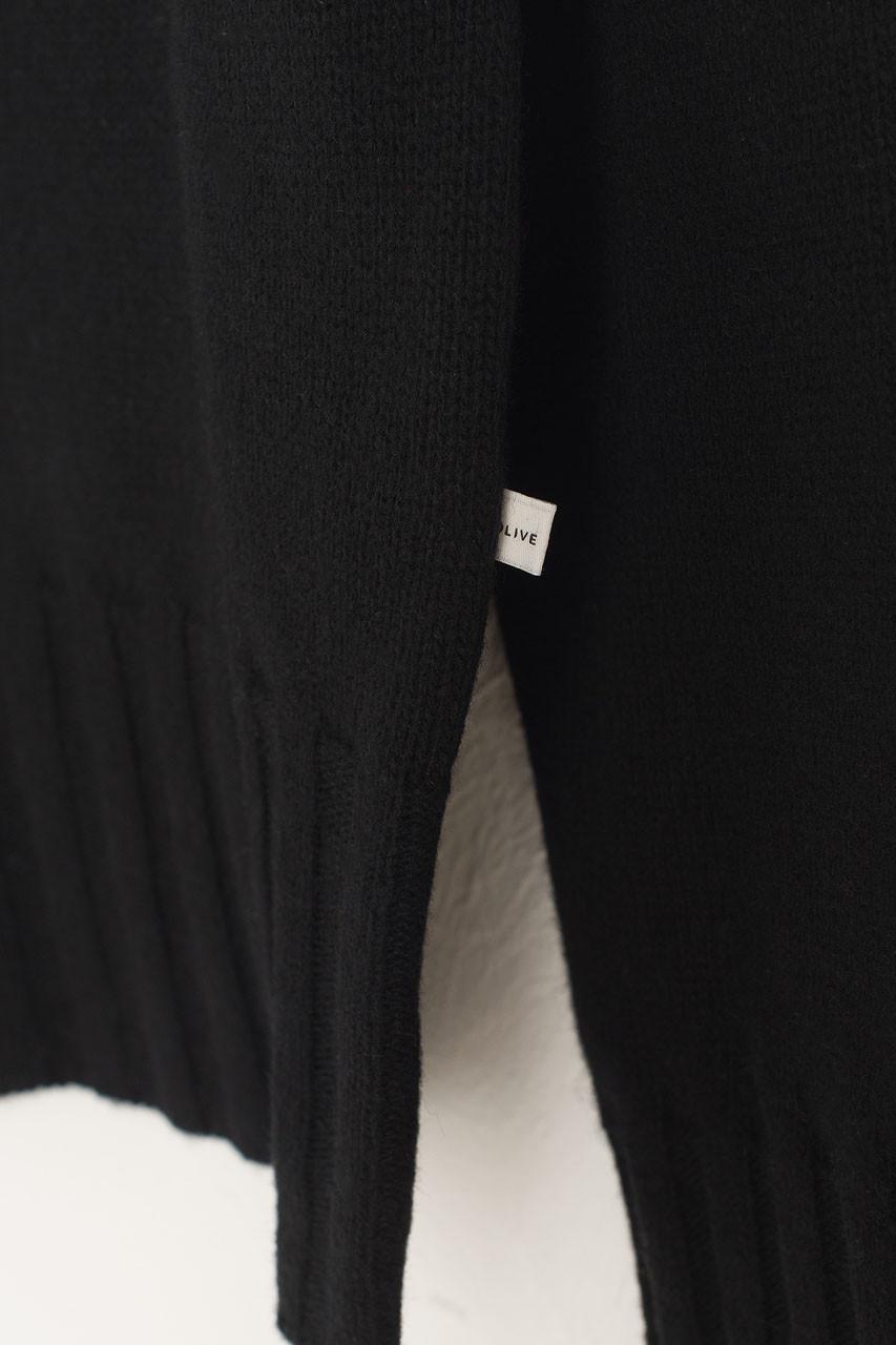 Simple Roll Neck Jumper, Black