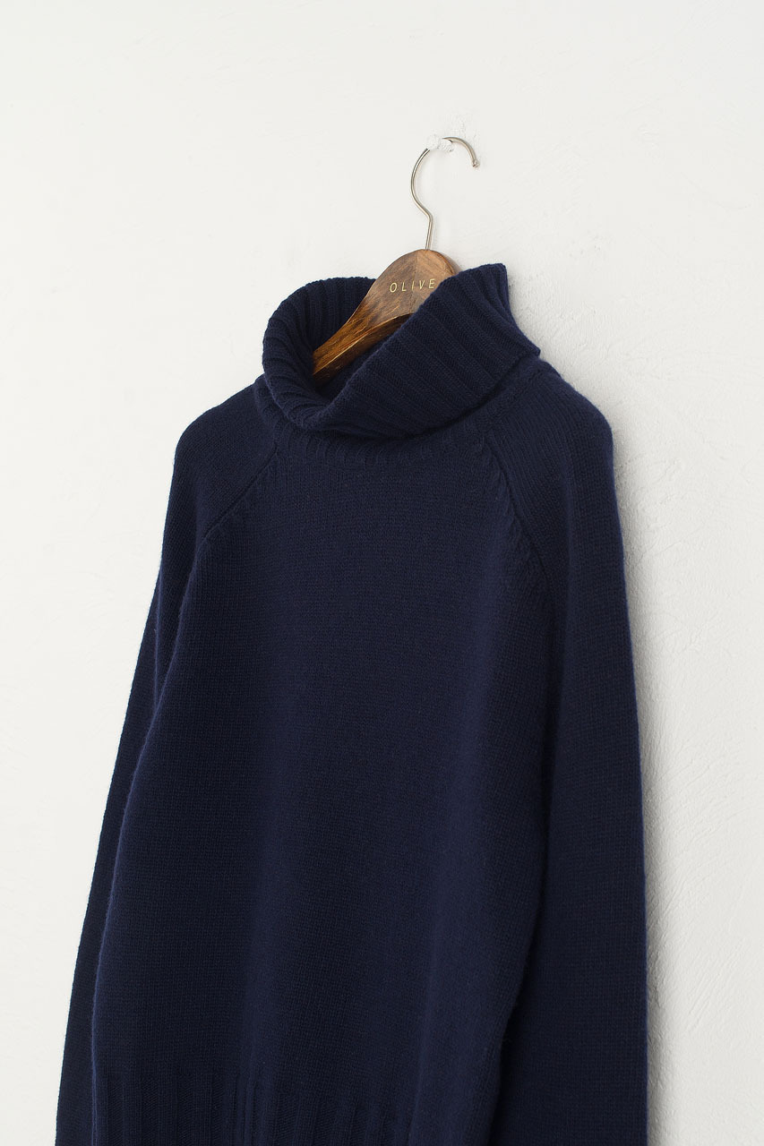 Simple Roll Neck Jumper, B.Navy