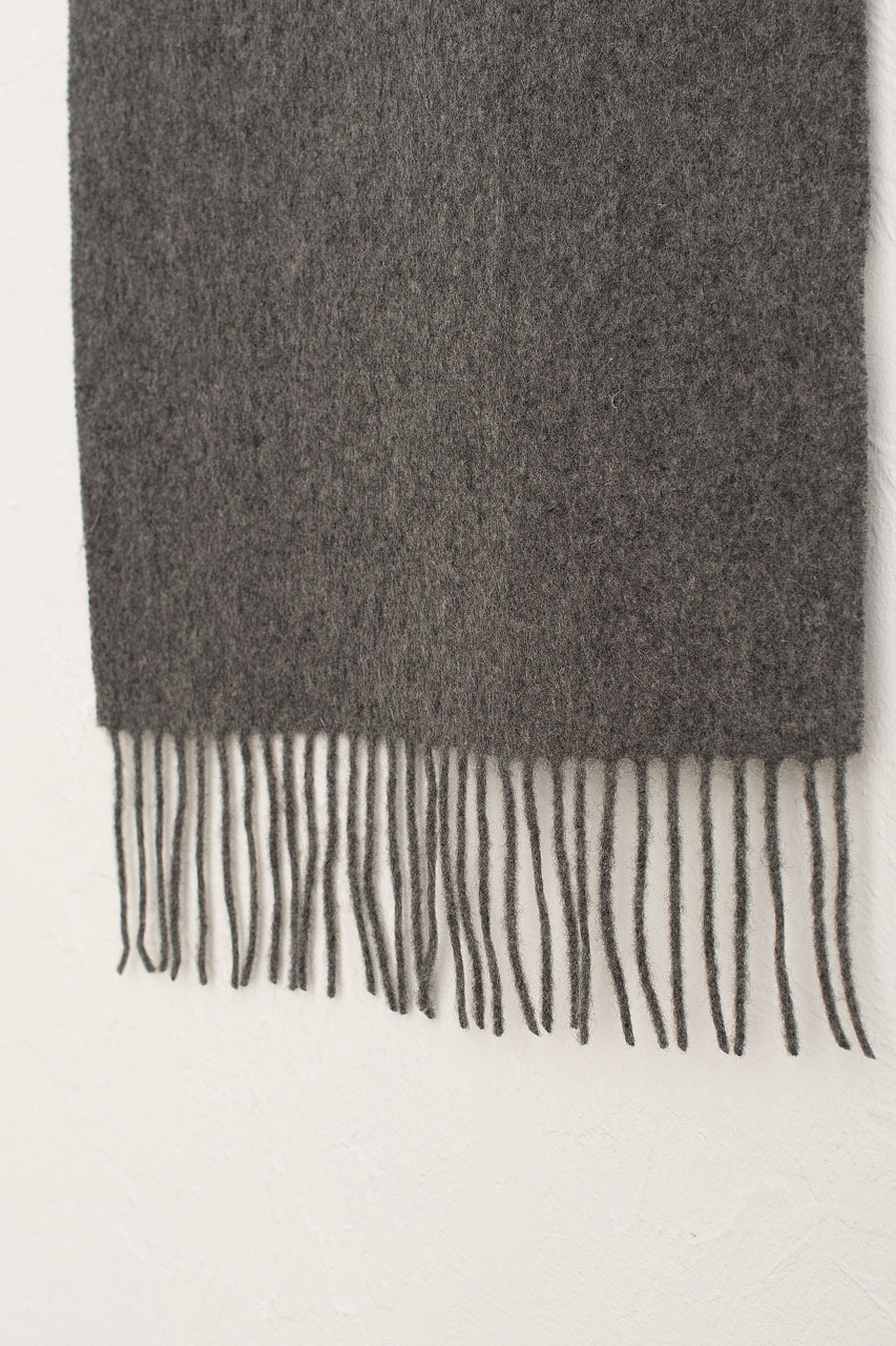 A/W 20 Mini Wool Scarf, Dark Grey