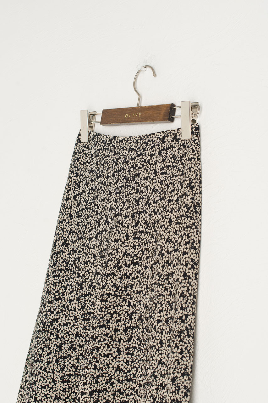 Eunha Flower Skirt, Black