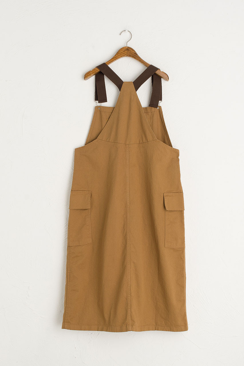 Co Brown Point Dungaree Drress, Brown