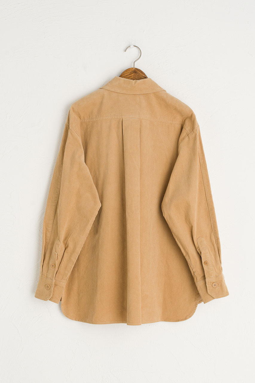 Cord Work Shirt, Beige