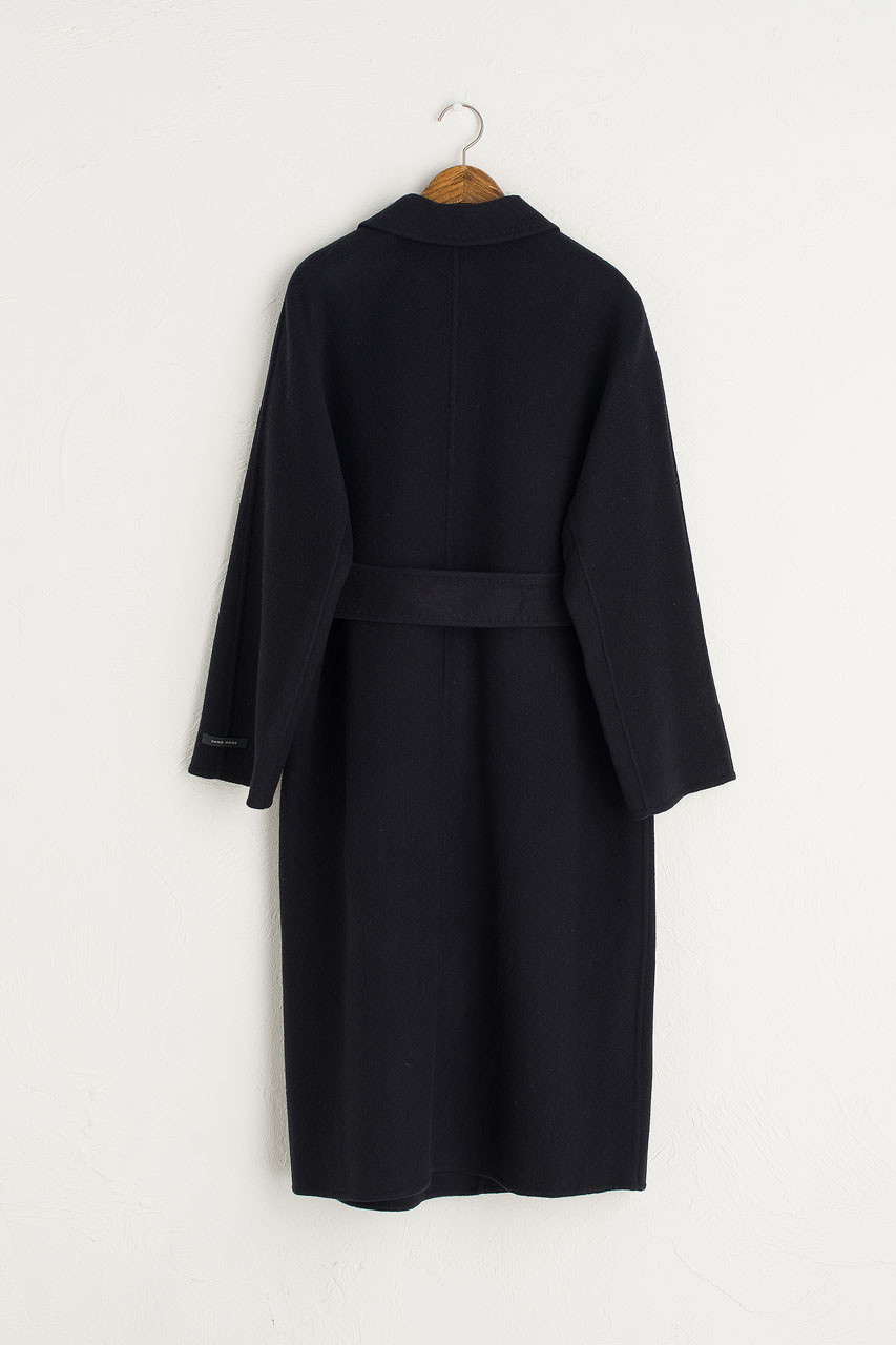 Hoya Seamless Long Coat, Navy